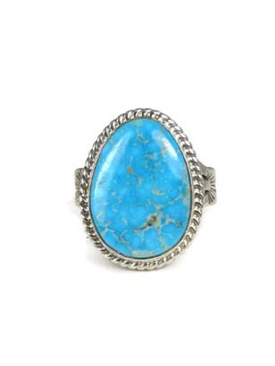 Kingman Turquoise Ring Size 9 by Phillip Sanchez (RG3670)