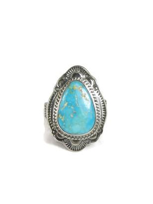 Kingman Turquoise Ring Size 7 by Joe Piaso Jr.