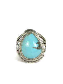 Sierra Nevada Turquoise Ring Size 7 by Jake Sampson