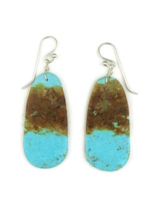 Turquoise Slab Earrings by Ronald Chavez (ER4063)
