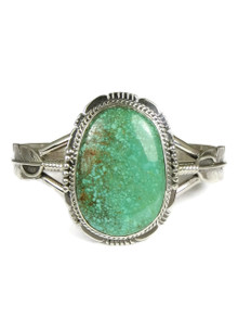 Sierra Nevada Turquoise Silver Feather Bracelet by John Nelson (BR6055)