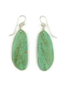 Turquoise Slab Earrings by Ronald Chavez (ER4076)