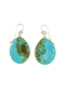 Turquoise Slab Earrings by Ronald Chavez (ER4078)