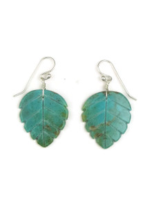 Turquoise Feather Slab Earrings by Ronald Chavez (ER4085)