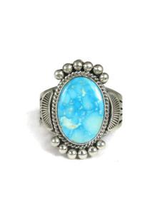 Natural Kingman Turquoise Ring Size 14