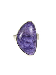 Silver Charoite Ring Size 8 by Lyle Piaso (RG3820)