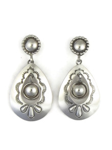 Silver Concho Dangle Earrings by Fritson Toledo (ER4088)