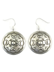 Silver Concho Dangle Earrings by Fritson Toledo (ER4089)