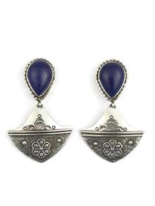 Sterling Silver Lapis Dangle Earrings by Fritson Toledo (ER4091)