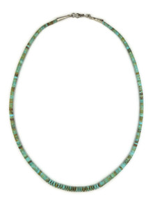 """Turquoise Heishi Necklace 22"""" by Ronald Chavez"""