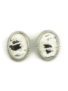 White Buffalo Clip On Earrings by Shirley Henry