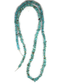 Long Turquoise Bead Necklace 49""