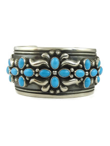 Sleeping Beauty Turquoise Cross Cuff Bracelet by Darryl Becenti