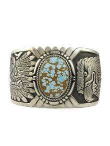Number 8 Turquoise Eagle Bracelet by Freddy Charley