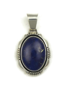 Silver Lapis Pendant by Ronnie Willie