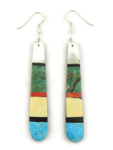 Mosaic Inlay Earrings by Torevia Crespin