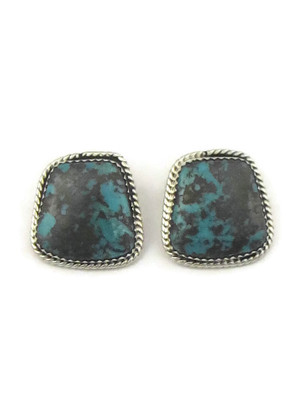 Pilot Mountain Turquoise Clip On Earrings