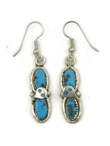 Turquoise Snake Earrings by Zuni Effie Calavaza (ER5082)