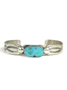Kingman Turquoise Bracelet by Carol & Wilson Begay (BR6084)
