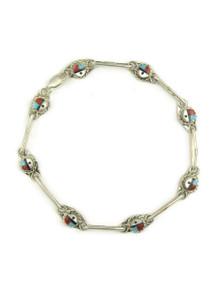 Zuni Sun Face Link Bracelet by Devoria Bowekaty