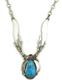 Sleeping Beauty Turquoise Necklace by Fritson Toledo (NK4615)