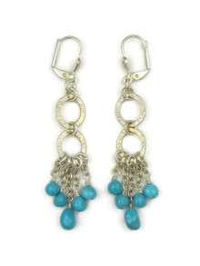 Silver Turquoise Dangle Earrings
