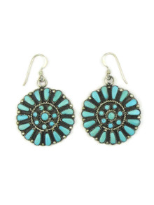 Turquoise Petit Point Cluster Earrings