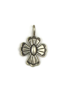 Small Silver Cross Charm