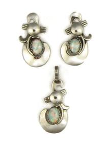 Opal Pendant & Earring Set by Les Baker Jewelry