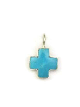 Kingman Turquoise Cross Pendant by Bernyse Chavez (PD3937)