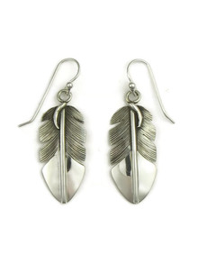 Sterling Silver Feather Earrings by Lena Platero (ER3989)