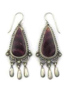 Purple Spiny Oyster Shell Dangle Earrings by Ty Francisco