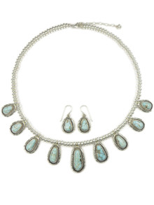 Dry Creek Turquoise Necklace Set by Larry Yazzie (NK4527)