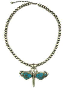 Kingman Turquoise Dragonfly Necklace by Randy Boyd