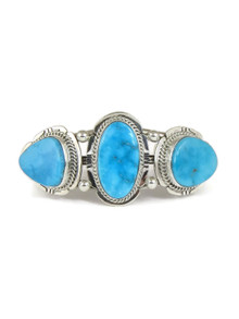 Three Stone Kingman Turquoise Bracelet by John Nelson