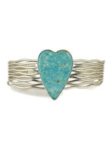 Kingman Turquoise Heart Bracelet  by Murphy Platero