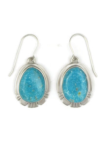 Kingman Turquoise Earrings by Phillip Sanchez (ER3992)