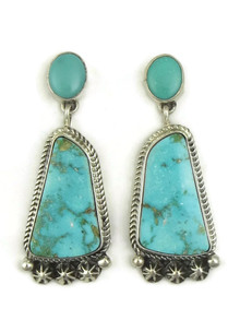 Kingman Turquoise Earrings by Geneva Apachito (ER4033)