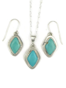 Turquoise Mountain Earring & Pendant Set by Barbara Hemstreet (PD2520)