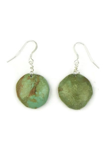 Green Kingman Turtle Bead Earrings by Joe Garcia