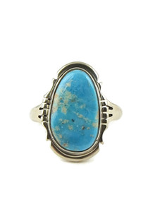 Kingman Turquoise Ring Size 8 by Thomas Valencia