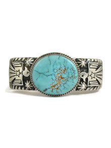 Kingman Turquoise Thunderbird Bracelet by Andy Cadman (BR4328)
