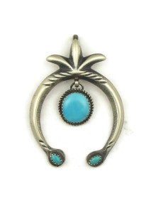 Sleeping Beauty Turquoise Naja Pendant by Martha Cayatineto