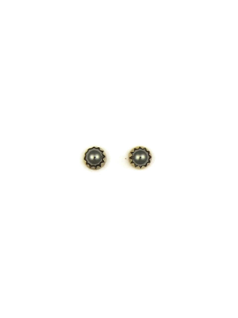 d8d5f99e1 Hematite Stud Earrings 4mm (STUD-HEM) - Southwest Silver Gallery