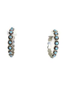 Turquoise Hoop Earrings by Florenda Lonasee