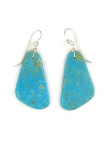 Turquoise Slab Earrings by Julian Coriz (ER4046)