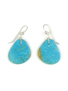 Turquoise Slab Earrings by Julian Coriz (ER4048)
