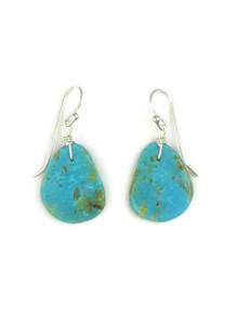 Turquoise Slab Earrings by Julian Coriz (ER4112)
