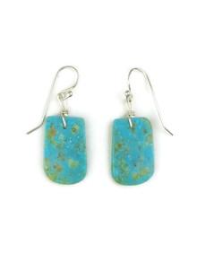 Turquoise Slab Earrings by Julian Coriz (ER4013)