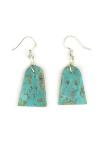 Turquoise Slab Earrings by Julian Coriz (ER4114)